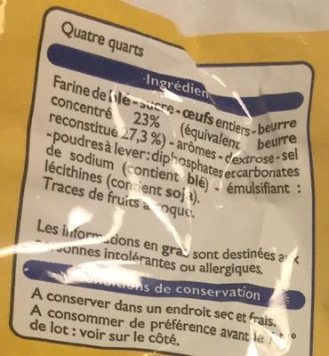 Mini quatre-quarts pur beurre - Ingrediënten