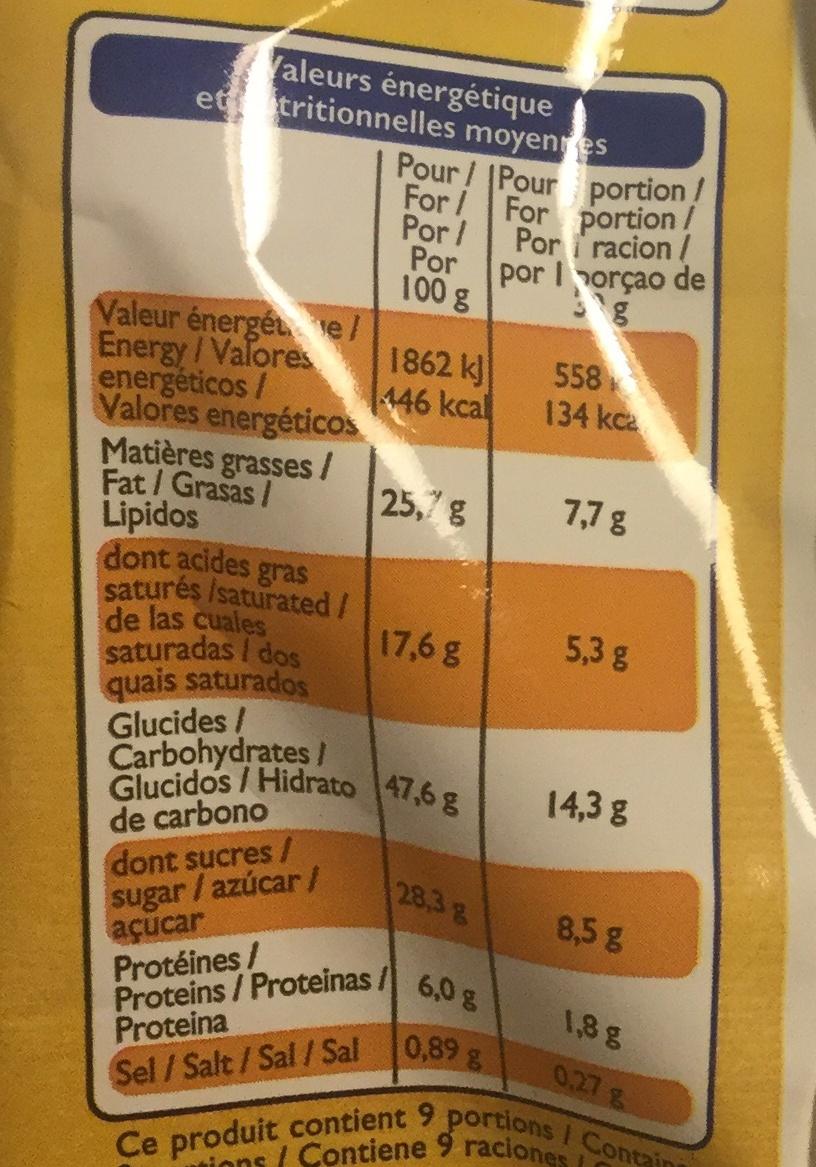 Mini quatre-quarts pur beurre - Voedingswaarden