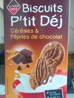 Biscuits P'tit Déj céréales & Pépites de chocolat - Product - en
