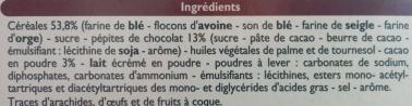 Biscuits P'tit Déj céréales & Pépites de chocolat - Ingredients - en