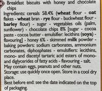 Biscuits P'tit Déj - Ingredients - en