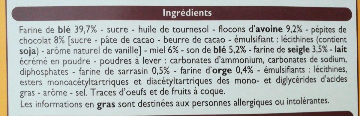 Biscuits P'tit Déj - Ingrédients - fr