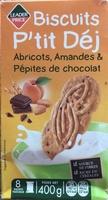 Biscuits P'tit Déj Abricots, Amandes et Pépites de chocolat - Produit - fr