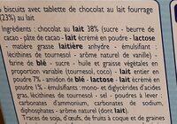 P'tit Sacripant - Barres chocolat au lait - Ingredients - fr