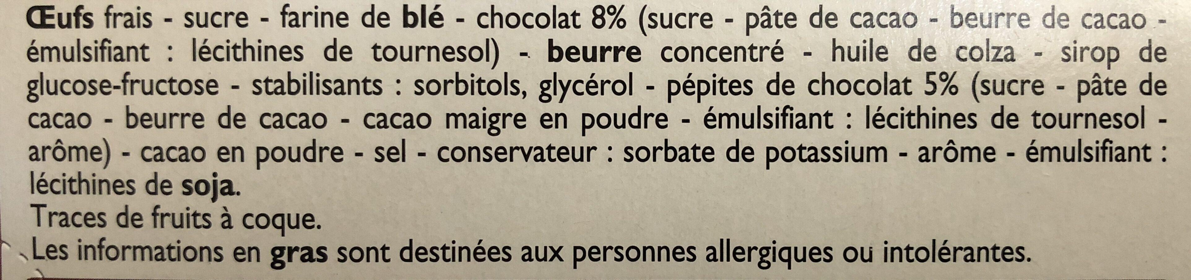 Mini Brownies aux pépites de chocolat - Ingrediënten