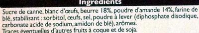 Financiers aux amandes pur beurre - Ingrédients