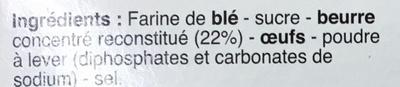 12 Maxi galettes bretonnes - Ingredients - fr