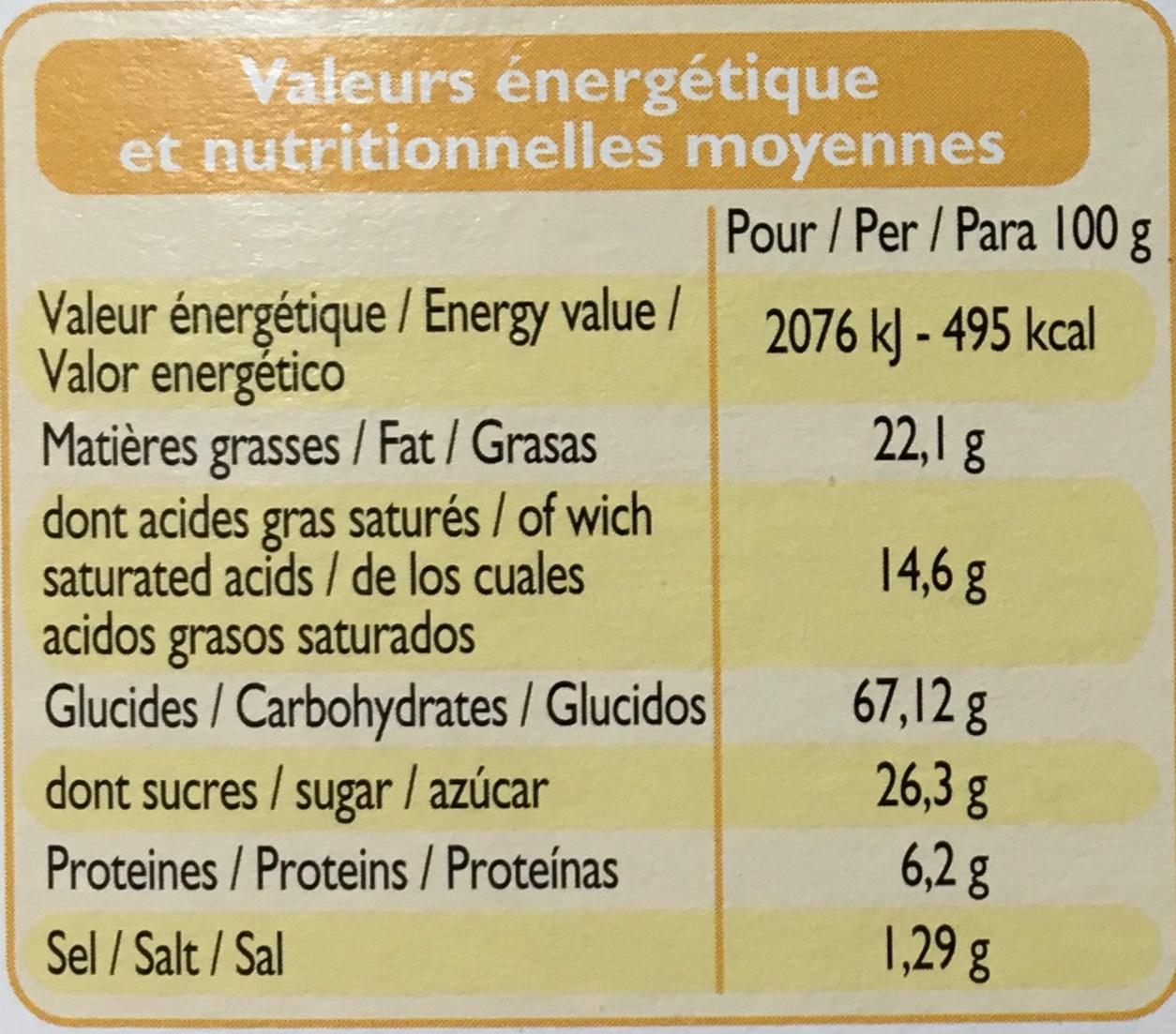 12 Maxi galettes bretonnes - Nutrition facts - fr