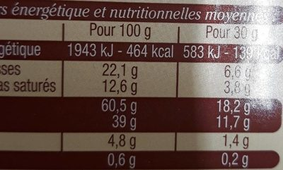 Gâteau Breton Fourré à la Crème de Pruneaux - Nutrition facts
