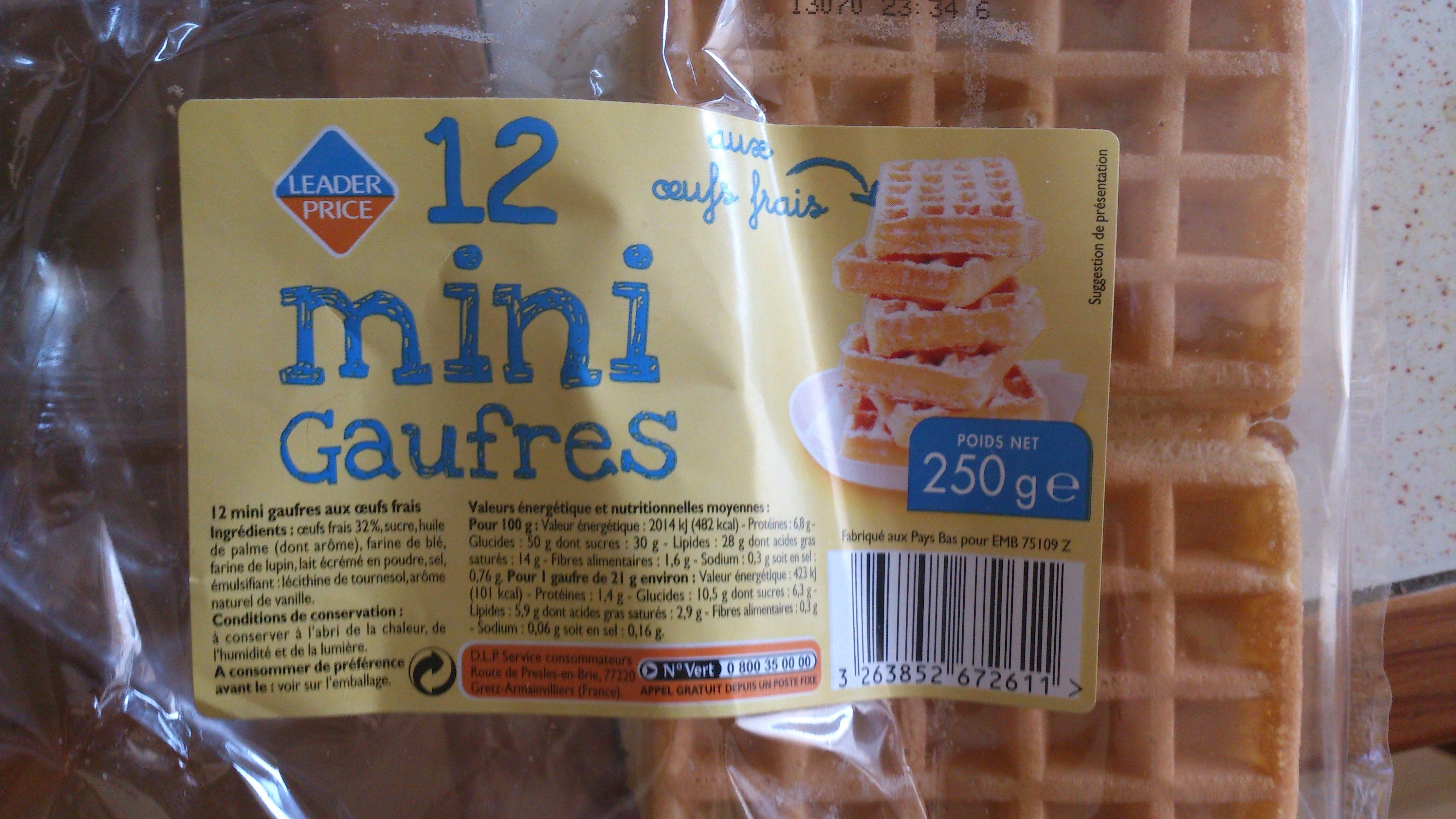 12 mini gaufres - Produit