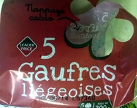 5 gaufres liégeoises - Produit