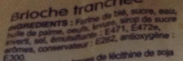 Brioche Tranchée - Ingrediënten - fr