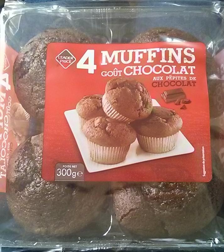 Muffins goût Chocolat aux pépites de chocolat - Product - fr