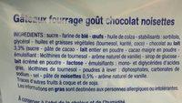 Mini Fourrés Cacao Noisette - Ingrédients - fr