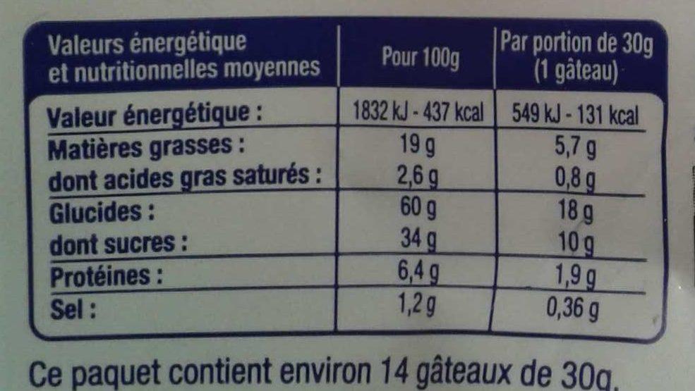 Mini Fourrés Cacao Noisette - Informations nutritionnelles - fr