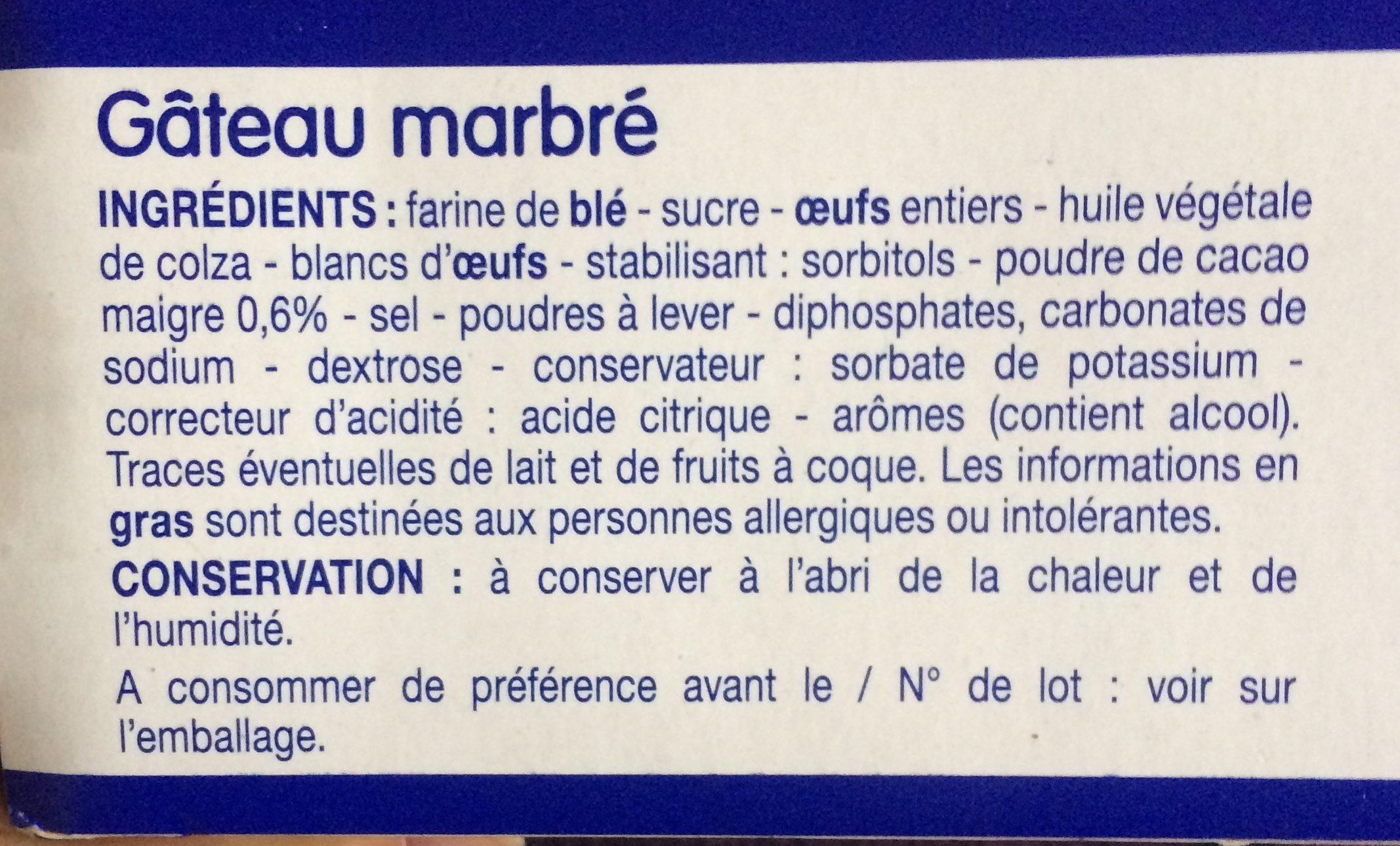 Barre Marbrée - Ingredienti - fr