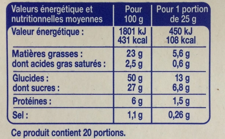 Barre Marbrée - Valori nutrizionali - fr