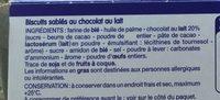 Sprits chocolat au lait - Ingrédients - fr