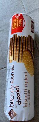 Biscuits Fourrés Goût Chocolat - Product - fr