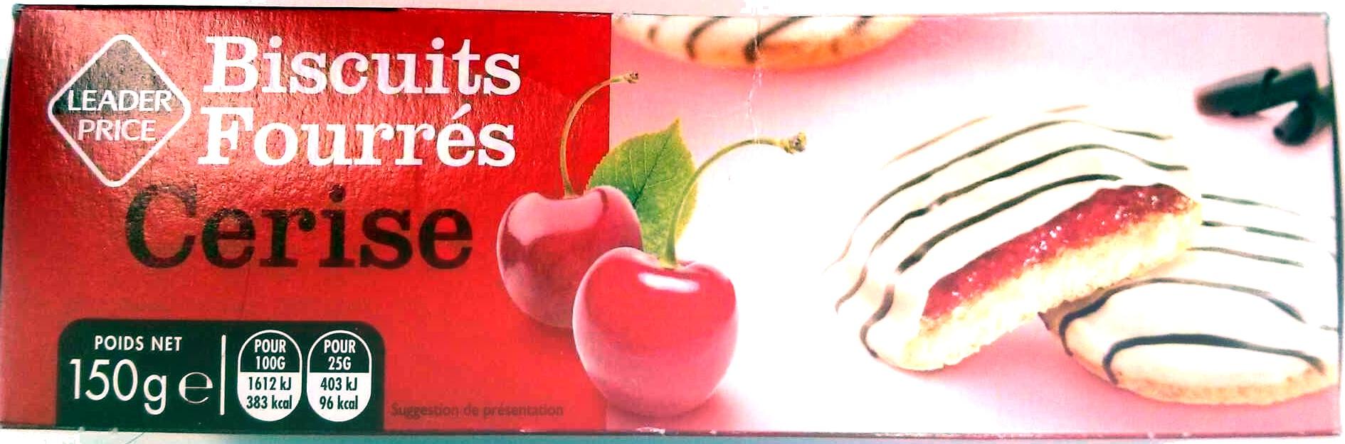 Biscuit Fourrés Cerise - Produit - fr