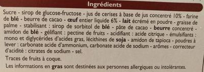 Biscuit Fourrés Cerise - Ingrédients - fr