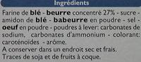 Sprits - Sablés au beurre - Ingredienti - fr