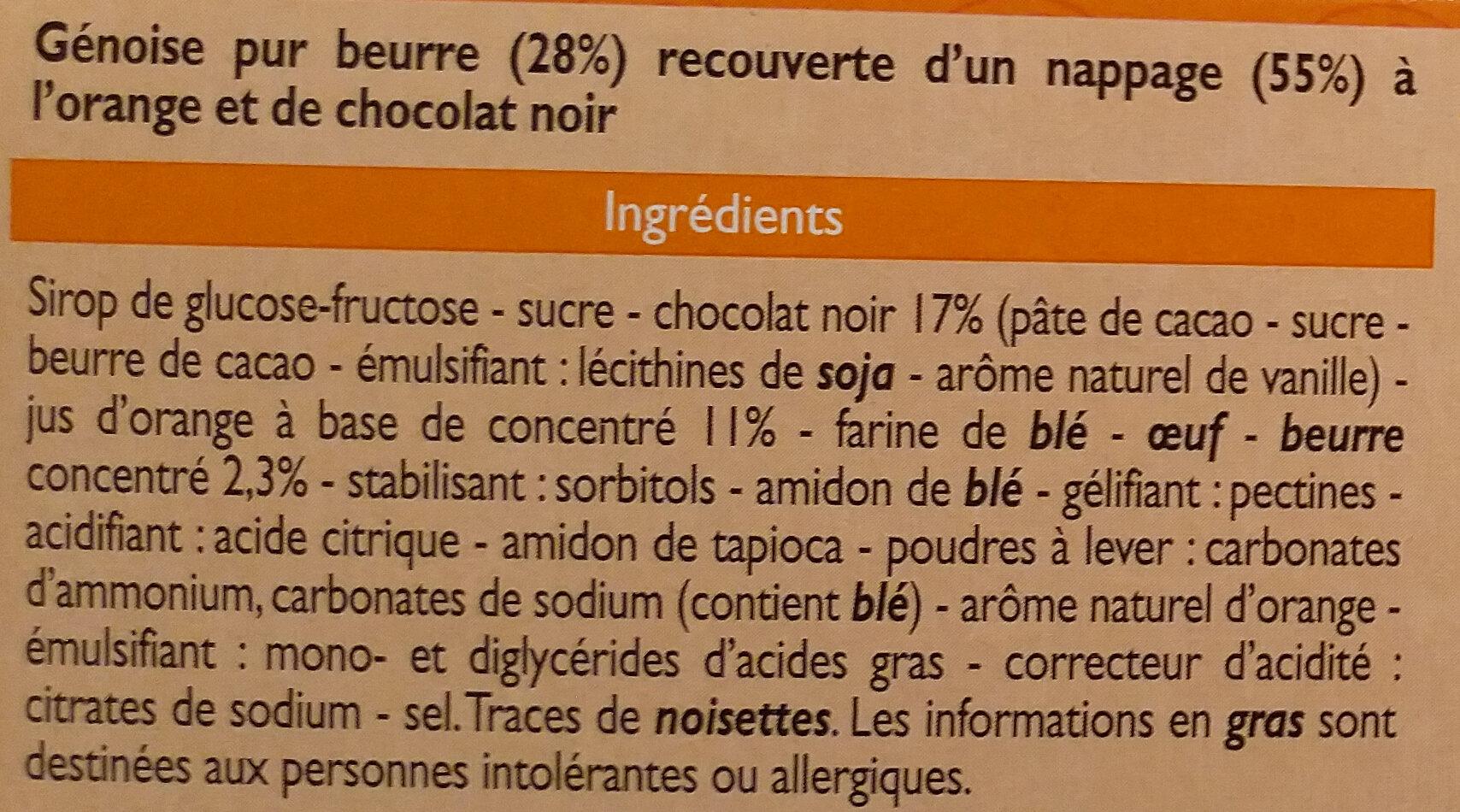 Genoise pur beurre orange - Ingrediënten - fr