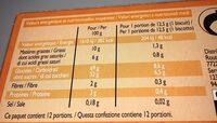 Genoise pur beurre orange - Voedingswaarden - fr