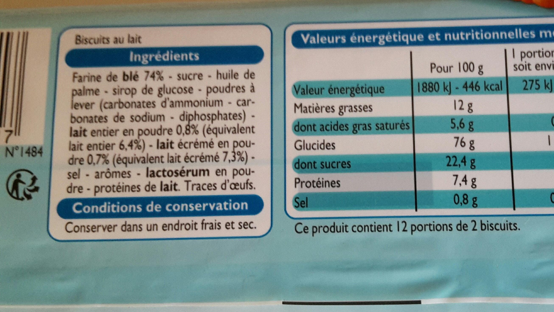 Petit Lait - Informations nutritionnelles - fr