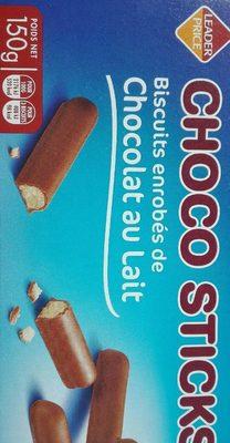 Choco sticks - Biscuits enrobés de chocolat au lait - Produit - fr