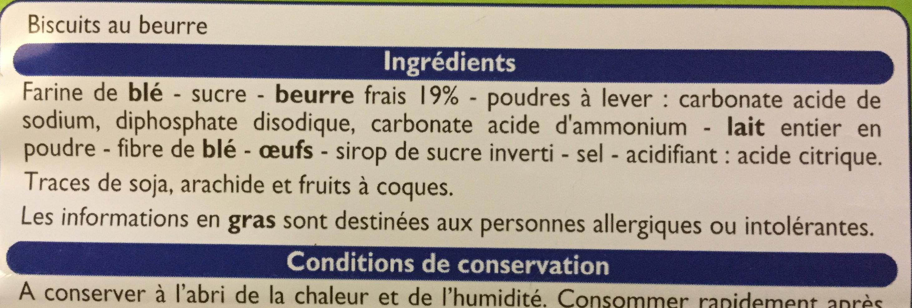 Beurrés Bretons - Ingrédients - fr