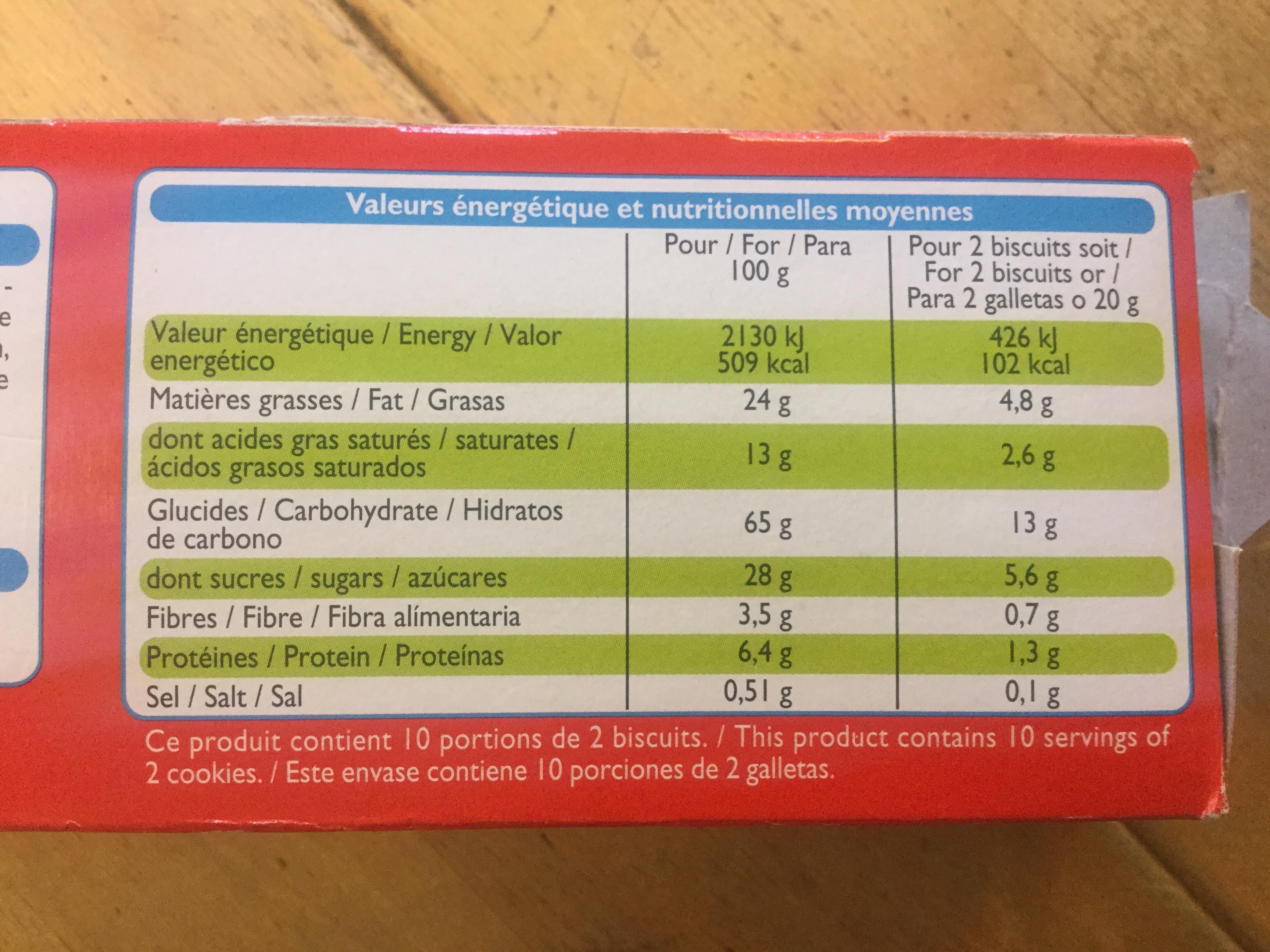 Paquita - Voedingswaarden