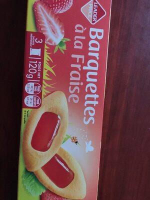 Barquettes à la fraise - Biscuits aux œufs avec nappage - Product - fr