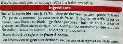 Barquettes à la  fraise - Ingrediënten