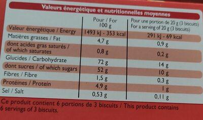 Barquettes à la fraise - Biscuits aux œufs avec nappage - Nutrition facts - fr