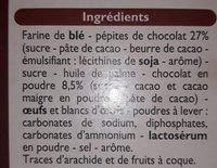 Cookies - Ingrédients - fr