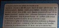 P'tit Sacripant Petits Beurre Chocolat au Lait - Ingrédients - fr