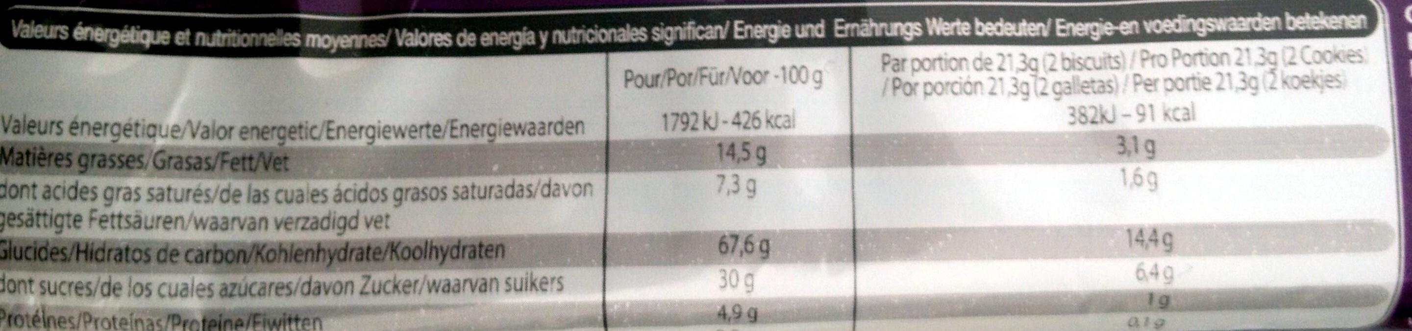 Leader Figue - Valori nutrizionali - fr