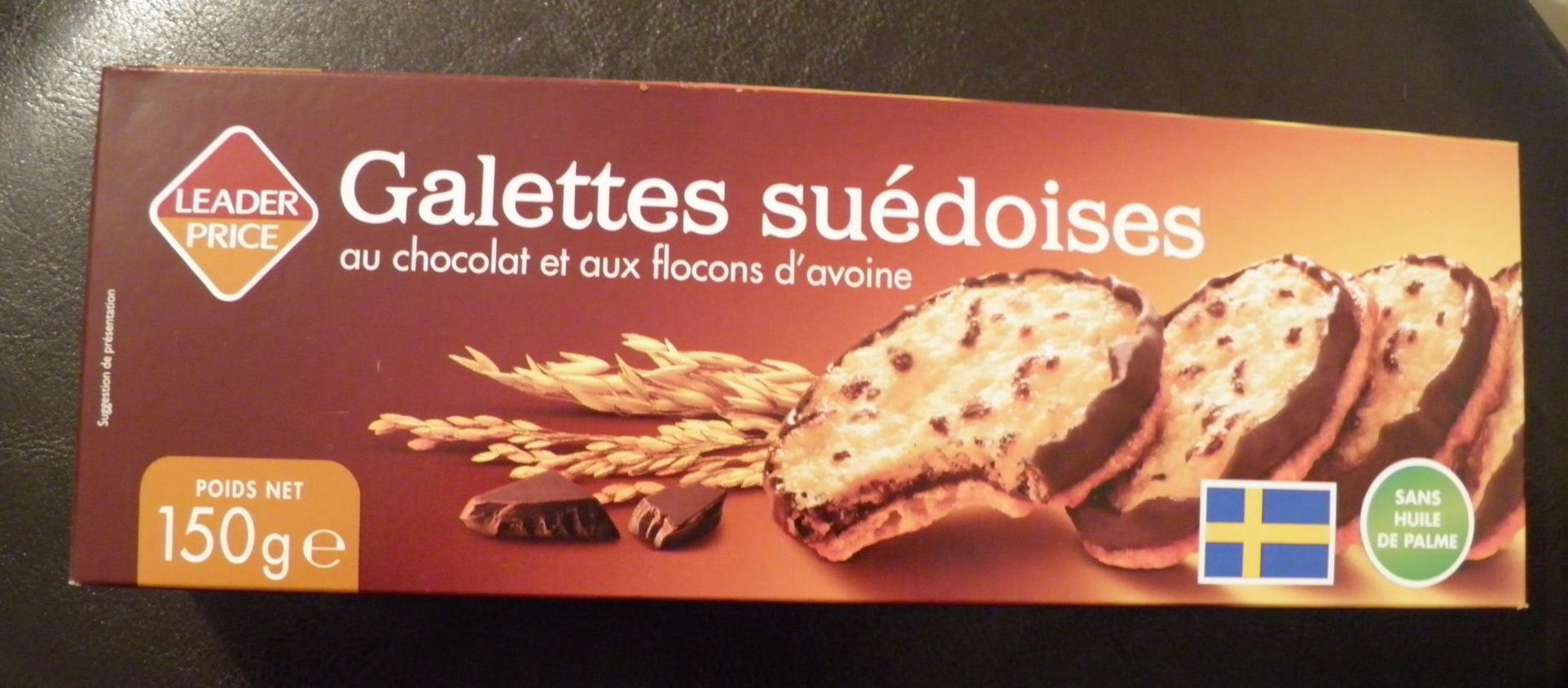 Galettes suédoises au chocolat et flocons d'avoine - Prodotto - fr