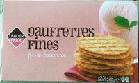 Gaufrettes fines pur beurre - Product