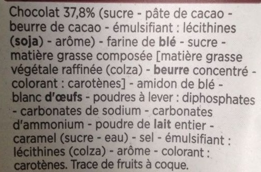Cookies pépites de chocolat - Ingrediënten - fr