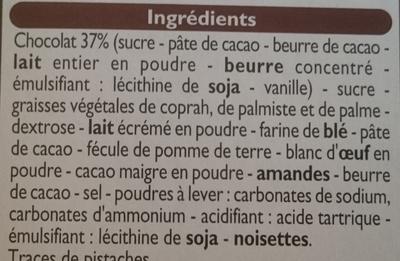 Biscuits meringués au chocolat - Ingrédients - fr