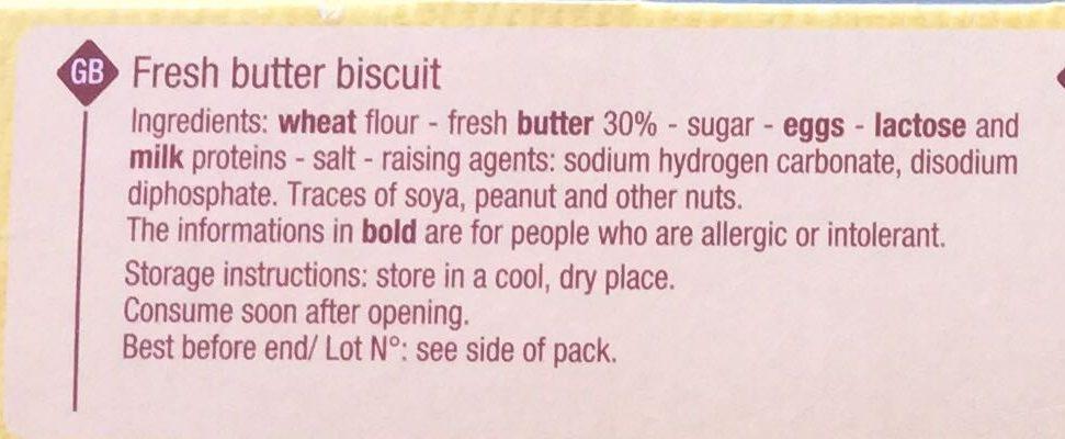 Galets Bretons au beurre frais - Ingredients - en