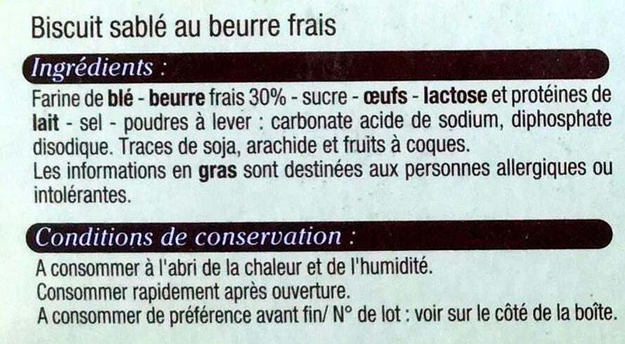Galets Bretons au beurre frais - Ingrediënten
