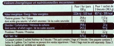 Galets Bretons au beurre frais - Nutrition facts - fr