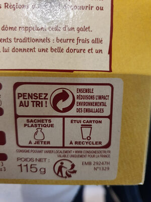 Galets Bretons au beurre frais - Recycling instructions and/or packaging information - fr