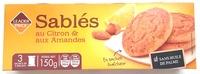 Biscuits sablés au citron et aux amandes - Produit - fr