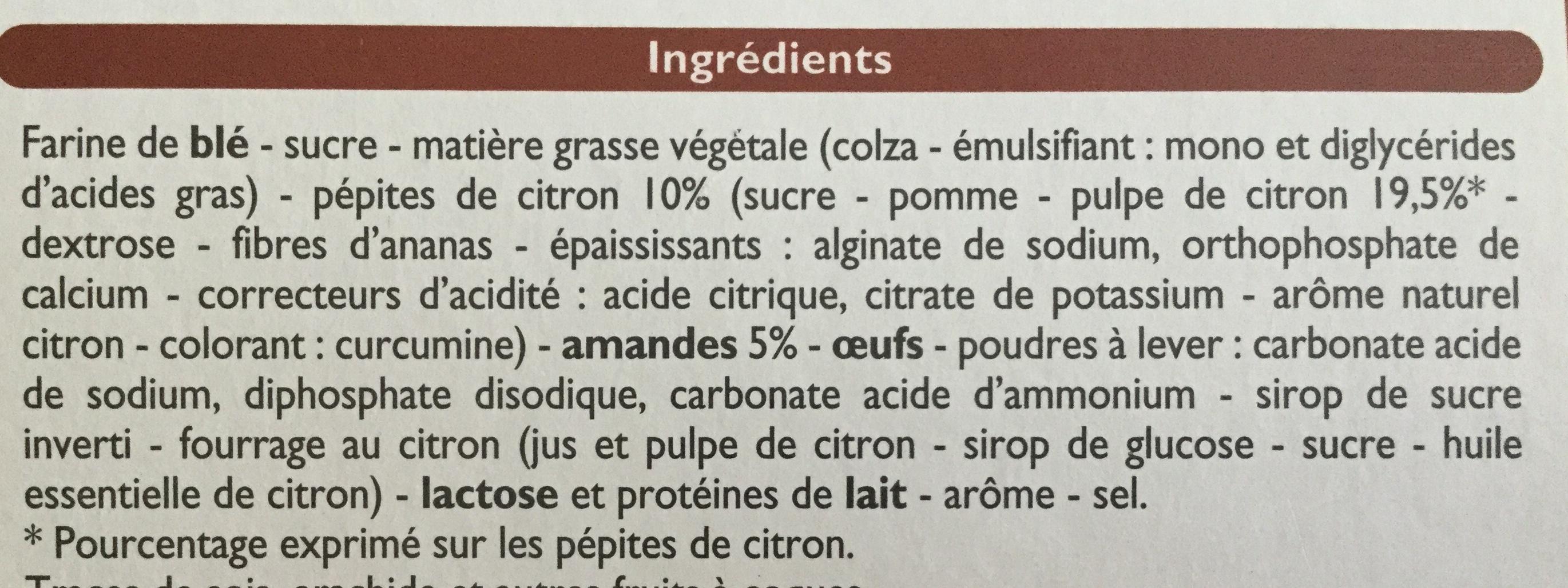 Biscuits sablés au citron et aux amandes - Ingrédients - fr