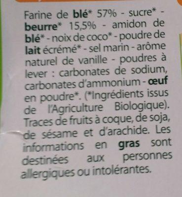 Biscuits petit-beurre - Ingredients - fr