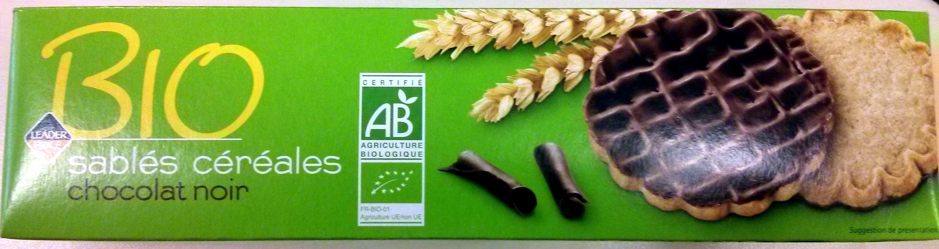 Sablés céréales chocolat noir Bio - Produit - fr